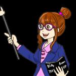 ブログの先生(背景透明PNG)