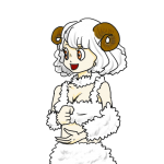 羊娘(背景透明PNG)