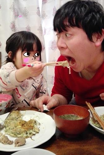 一生懸命食べる