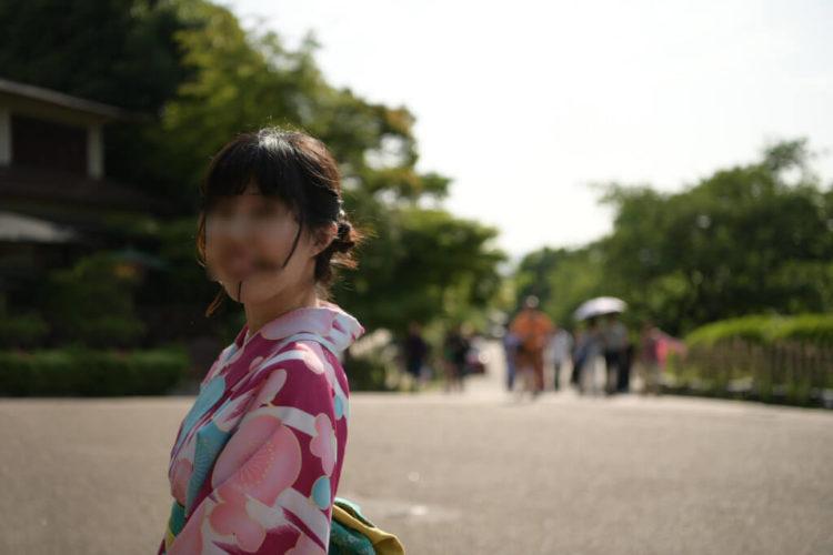 京都の町と着物