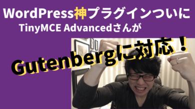 TinyMCE AdvancedがGutenbergに対応